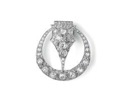 25. diamond brooch, 1920s