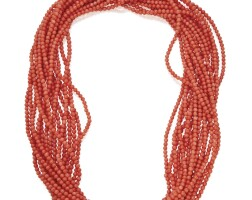 43. coral necklace