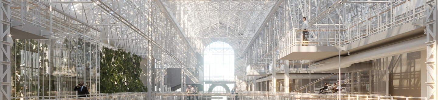 Rendering of GES-2 Light Filled Centrale Nave.