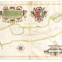 34. langdon and wilcocke. three manuscript maps of overton, hampshire, 1615