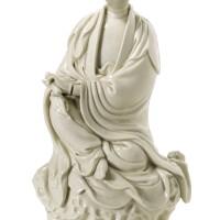 103. a dehua figure of guanyin qing dynasty, 17th/18th century