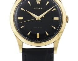 203. 勞力士(rolex)   9006型號「precision」黃金腕錶,年份約1960。