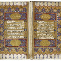 47. an illuminated qur'an, copied by mustafa kutahi, turkey, ottoman, dated 1170 ah/1756-57 ad
