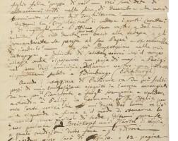 196. paganini, nicolò. extraordinary autograph letter signed twice to the publisher and musician antonio pacini