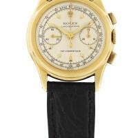 42. 勞力士(rolex) | 3055型號「piccolino」黃金計時腕錶,年份約1950。