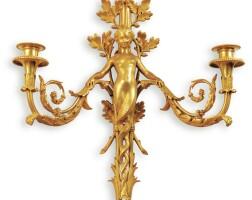 152. françois linke (1855-1946)a french gilt-bronze twin-light wall-light, paris, circa 1920 |