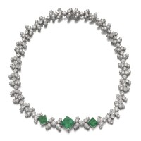 23. emerald and diamond necklace