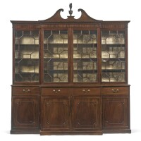 269. a george iii mahogany breakfront bookcase by gillows