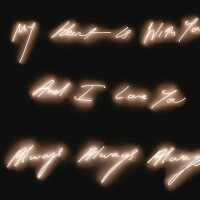 16. tracey emin | my heart is with you and i love you always always always