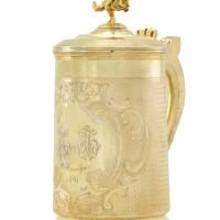 439. a silver-gilt tankard, st petersburg, circa 1865