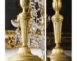 5. a pair of gilt-bronze candlesticks in louis xvi style