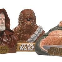 169. three star wars cookie jars, star limited, 1997