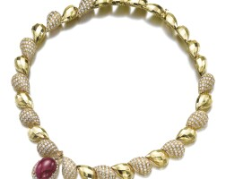 39. ruby and diamond necklace