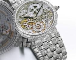 49. 江詩丹頓(vacheron constantin) | 女裝白金鑲鑽石鏤空鍊帶腕錶,年份約1995。