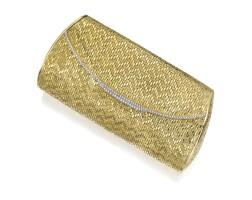 4. 18 karat gold and diamond evening bag