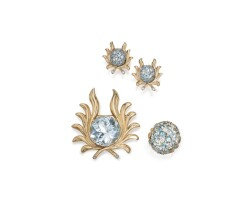 718. suite of gold, diamond and gem-set jewelry, verdura