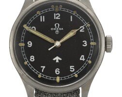 5. omega | a stainless steelcentre seconds wristwatchref 2777-1 case 6864 circa 1953