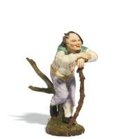 33. a höchst porcelain figure of a vagabond, late 18th century