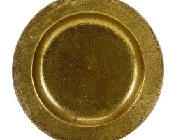 30. a large venetian brass dish late 16th / early 17th century