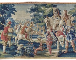 50. a mythological hunting tapestry, northern netherlands, late 17th/early 18th century