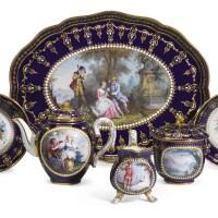 25. a sevres-style porcelain 'jewelled'dejeuner  