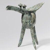 160. a bronze wine vessel (jue) late shang dynasty, 12th-11th century bc