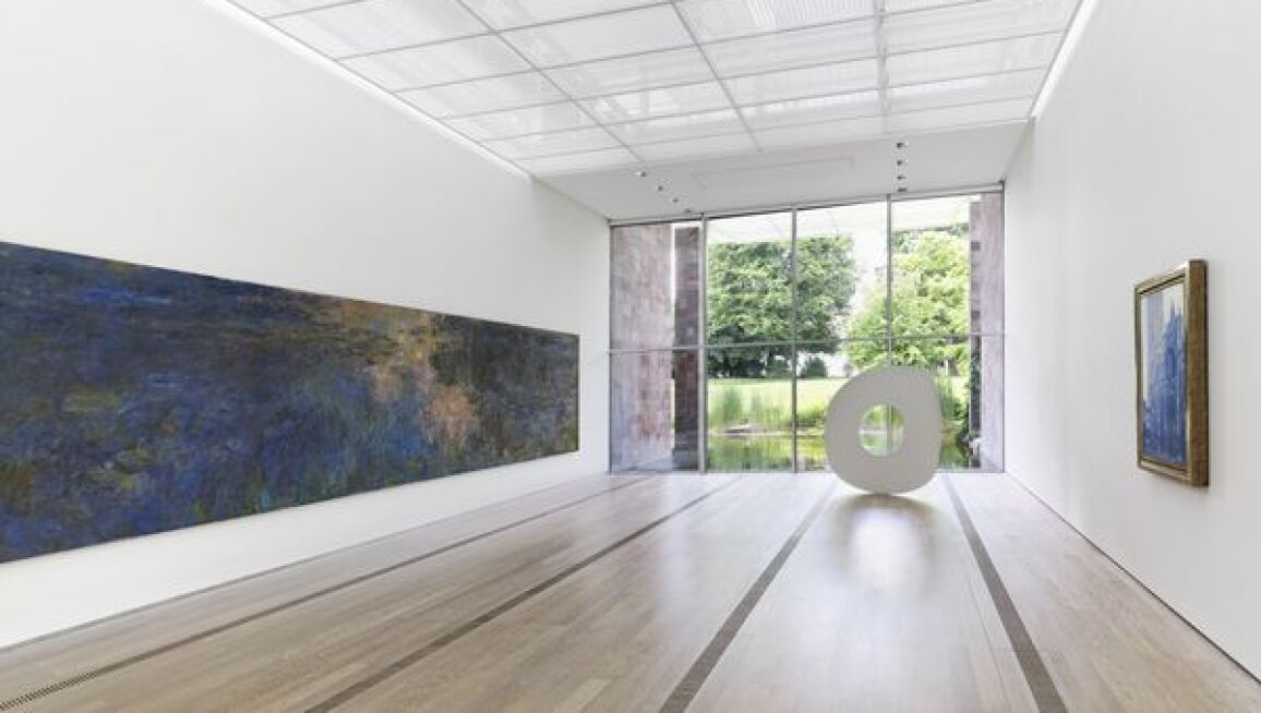 Interior View of the permanent collection of the Fondation Beyeler, Monet room, 2013