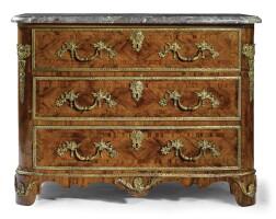 34. a fine gilt-bronze mounted kingwood commode régence, first quarter 18th century