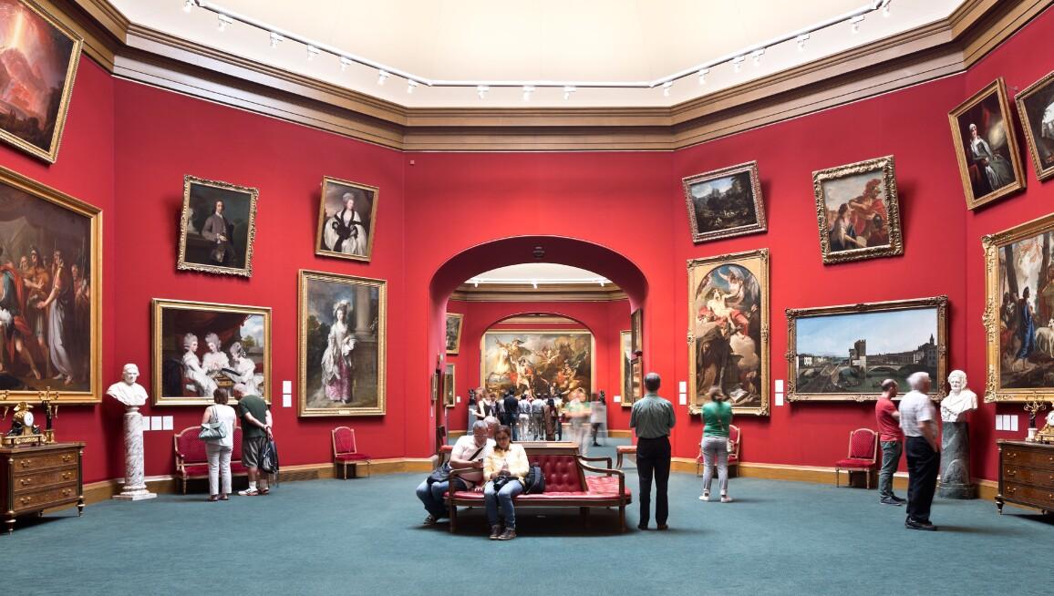Interior view, Scottish National Gallery