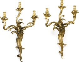 15. a pair of large wall lights in louis xv style, late 19th century |