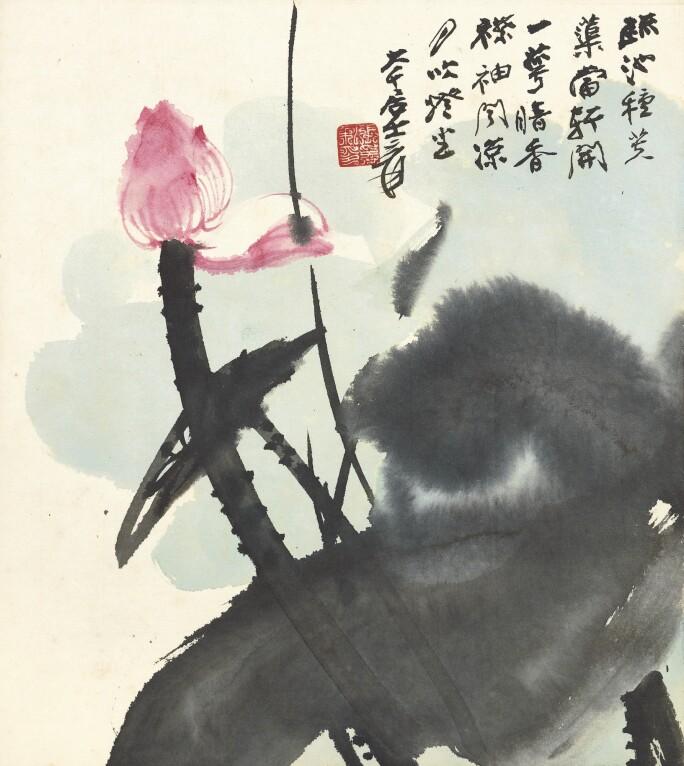 Zhang Daqian, RED LOTUS.jpg