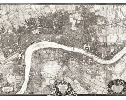 38. roque, a plan of the cities of london and westminster and borough of southwark, 1746, [but 1749]