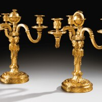 2. a pair of mercury regilt-bronze candelabra, late louis xv, circa 1770 |