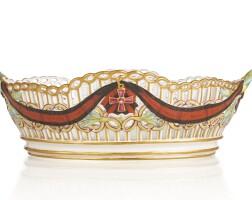 30. a russian porcelain basket from the service for the imperial order of st. vladimir, gardner porcelain manufactory, verbilki, 1783-1785