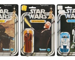 24. three star wars '12c-back' action figures, 1978