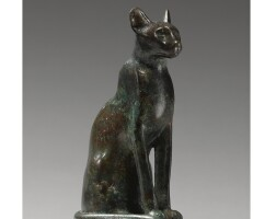20. a bronze figure of a cat, 26th/30th dynasty, 664-342 b.c.