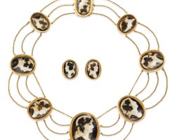 25. cameo necklace, early 19th century