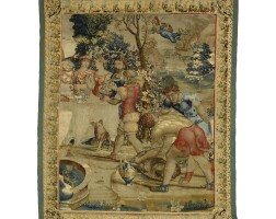 1. a composite flemish mythological tapestry fragment, possibly from the story of mercury 16th century