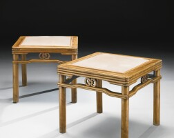 297. a large pair of huanghuali 'bamboo' stools (fangdeng) qing dynasty, 18th century