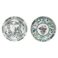 5. a chinese famille-verte large dish kangxi period, (1662-1722)