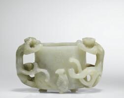 69. coupe en jade céladon dynastie ming