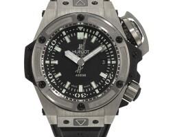 8. hublot | a limited editiontitaniumautomatic wristwatch with centre seconds and date no 0332/1000 king power diver - musée oceanographique de monacocirca 2012