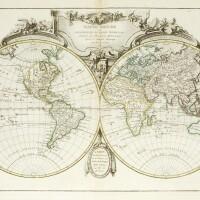 44. bonne, atlas moderne ou collection de cartes sur toutes les parties du globe terrestre, [c.1762]