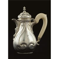 16. a royal german silver coffee pot, georg carl brenner, celle, circa 1775 date letter b