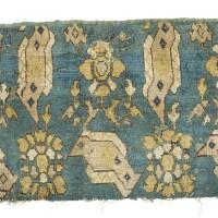 34. a european 'bird' carpet fragment,