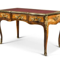 16. a gilt-bronze-mounted kingwood and tulipwood bureau plat, in louis xv style