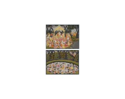 6. a pair of illustrations depicting shiva and parvati