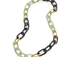 514. gold, aventurine quartz and onyx necklace, aldo cipullo