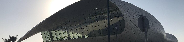 Exterior view of Etihad Museum.
