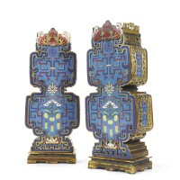 47. a pair of chinese cloisonné enamel vases 19th century